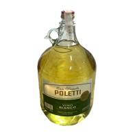 Вино біле сухе Poletti Casa Vinicola vino bianco 5л