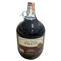 Вино Червоне сухе Poletti Casa Vinicola vino Rosso 5л