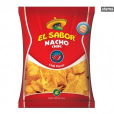 Чіпси EL SABOR NACHO Chili flavor Gluter free 225 гр.