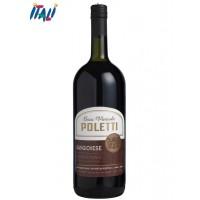Вино червоне сухе  POLETTI Sangiovese Rubicone 1.5л
