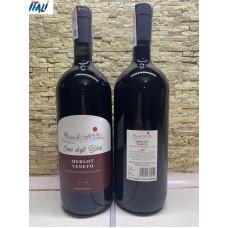Вино красное сухое Merlot Vento Casa degli olmi 1.5 л