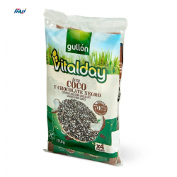 Хлібці GULLON NEW рисові Vitalday з шоколадом та кокосом без глютену 117г