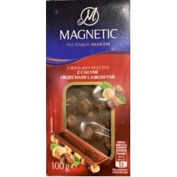 Шоколад Magnetic з Цільним Лісовим горіхом 100 г