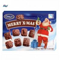 НР Цукерки Merry X-mas фігурки молочного шоколаду, 100г