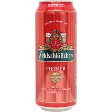 Пиво FeldschloBchen Pilsner ж/б 0,5л