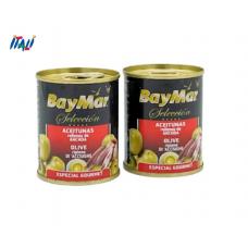 Оливки BayMar фаршировані Анчоусом 120г