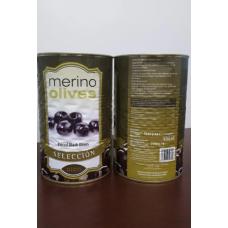 Оливки Merino без кісточки чорні, 4,35кг нетто