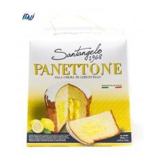 Панеттоне Panettone Santangelo   alla Crema di limone с лимонным кремом, 908 г.
