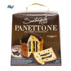 Панеттоне Panettone Santangelo   alla Crema di Cioccolato  с шоколадным кремом, 908 г.