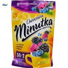Чай фруктовий Minutka з ожиною, чорницею та малиною, 64г (30+2пак.)