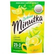 Чай зелений Minutka зі смаком лимона та лайма, 36,4г (25+3пакет.) ZIP