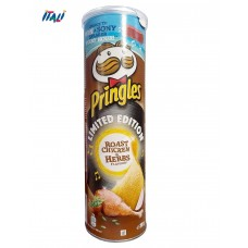 Чіпси Pringles Roast Chicken & Herbs, смажена курка, 200г