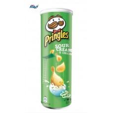 Чіпси Pringles Sourcream & Onion, сметана та цибуля, 165г