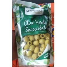 ОЛИВКИ ЗЕЛЕНЫЕ БЕЗ КОСТОЧКИ  Mangiare olive verdi snocciolate 400 g