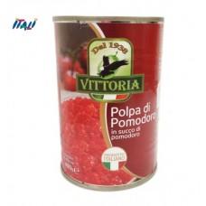 Помідори перетерті Vittoria Polpa di Pomodoro, ж/б, 400 г