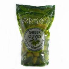 Зелені Argos greek olives в пакеті з кісточкою   900г