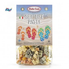 Макарони DALLA COSTA Sea Life pasta з томатом і шпинатом 250 г