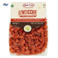 Макарони DALLA COSTA Fusilli з червоною чечевицею і томатом 400 г