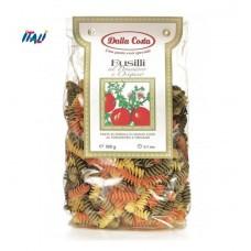 Макарони DALLA COSTA  Fusilli tricolor з томатом і орегано 250 г