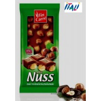 Шоколад Fin Carre whole Nut finest milk chocolate 100 г (Германия)