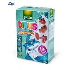 Печенье GULLON без глютену Dibus Sharkies, 250г