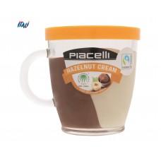 Паста Piacelli Duo, крем какао та горіх, 300 г + горнятко