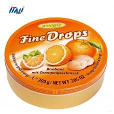Леденцы Fine Drops Woogie со вкусом апельсина, 200г