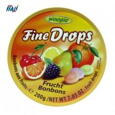 Леденцы Fine Drops Woogie со вкусом фруктовое ассорти, 200г