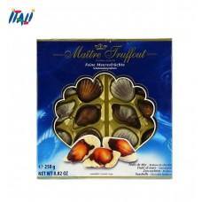 Конфеты пралине Pralines sea shells blue Maitre Truffout , 250 гр