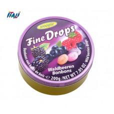 Леденцы Fine Drops Woogie со вкусом лесных ягод, 200г