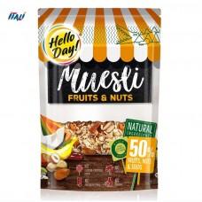 Мюслі AGUS Hello Day фрукти, насіння та горіхи 300 г