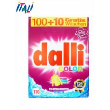 Dalli color стиральный порошок для цветных вещей (7.15 кг-110 стирок)Германия