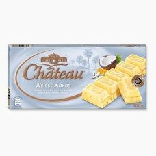 Немецкий шоколад Chateau Weisse Kokos, белый с кокосом 200г