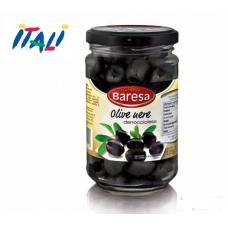 Оливки Baresa olive nere 125г