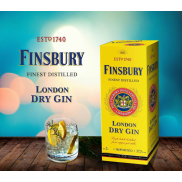 Джин Finsbury London Dry  37,5% 2л  Тетрапак